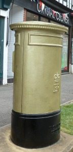 Gold Letter Box Cheam