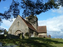 St Martha's Church, Chilworth, Guildford where we got married in April last year