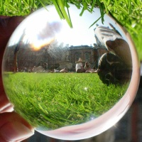 Travel Theme; Circles - Royal Holloway University through a Crystal Ball