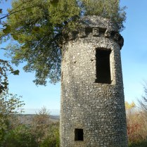 'The Rapunzel Tower' at Box Hill, a folly that is great fun to climb, and has a tree growing up the inside