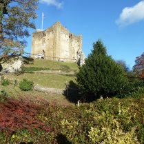 Guildford Castle in the November sunshine