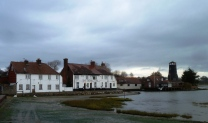 My favourite house in Langstone, with a light shining from the lighthouse window