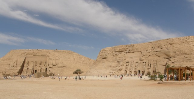 At the temple of Abu Simbel, Upper Egypt