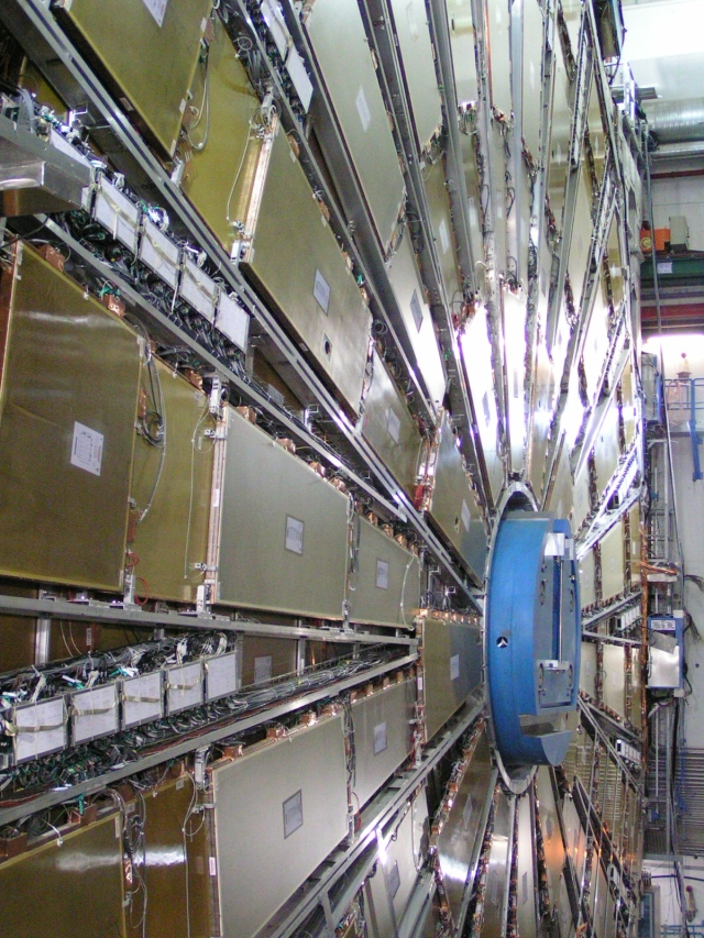One of the Endcaps of the ATLAS detector at CERN