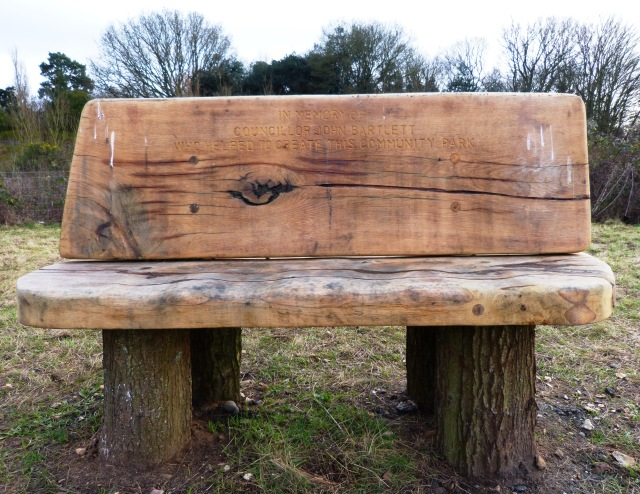 Bench with an eye on the park