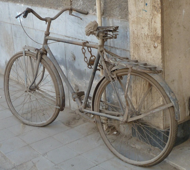 This bike in Egypt looked a little worse for lack of use! Maybe they lost the key?
