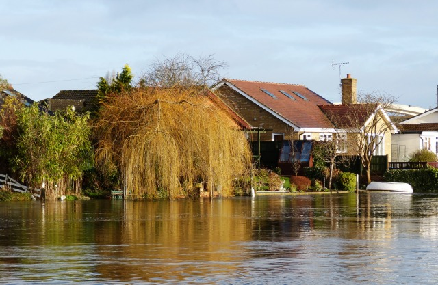 These houses are built on stilts, so they are safe from flooding for a while yet