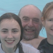 Christmas Swim 2011 Family close up :)