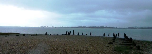 Remnants of a sea structure, Langstone, Chichester Harbour