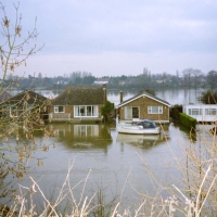 The River Thames in Flood, Weybridge, Walton & Port Hampton