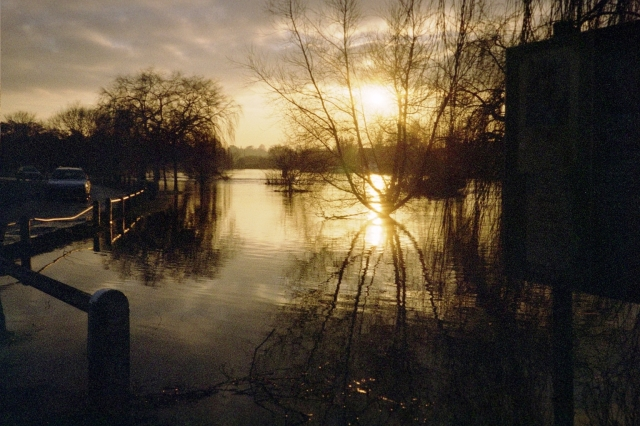 Sunset at Walton Bridge