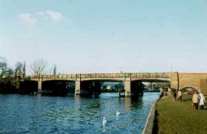 This bridge was an iron lattice girder structure on brick and stone piers designed by E T Murray