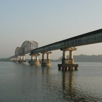 Zuari Bridge, Konkan Railway, Goa, India