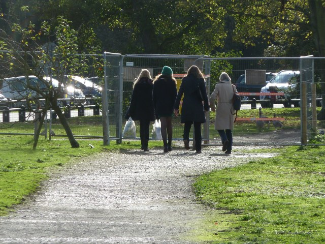 My Mum, Sister & the girls have had enough of waiting for my dad & head off for coffee!
