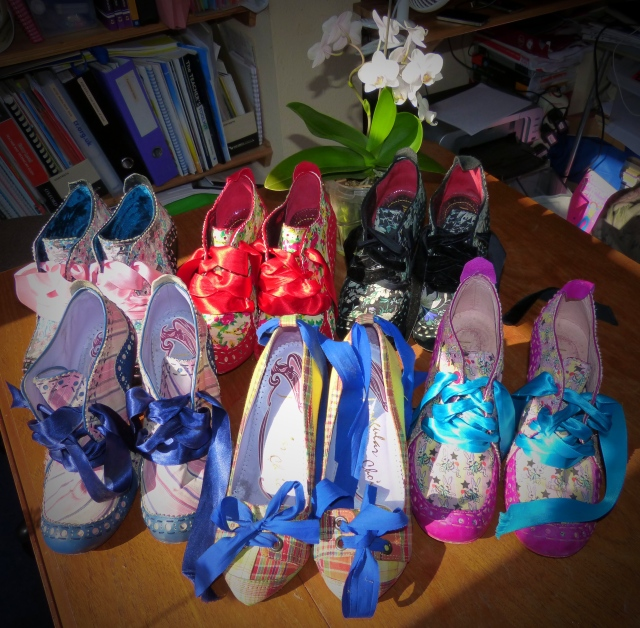 My collection of Irregular Choice Abigails Party shoes