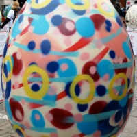 The Big Egg Hunt (UK) Eggs 6 & 7;  Abstract Painting #1 and Adventure Time Bro Hug