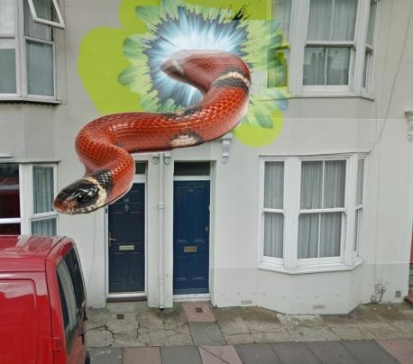 As reported in The Argus, a wormhole has been spotted in Brighton. Twice!