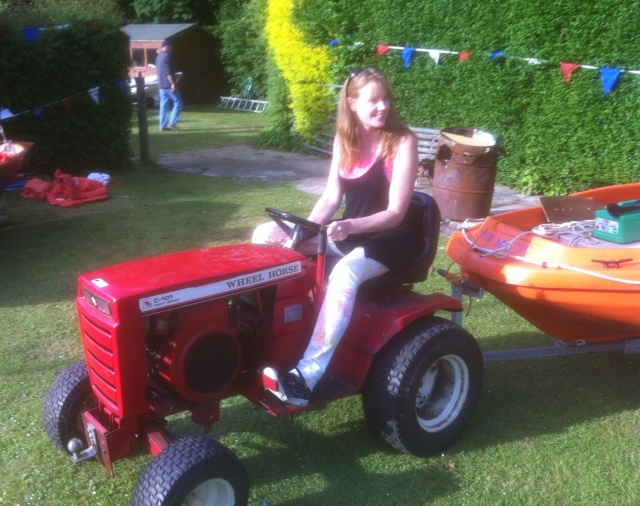 Me driving a Red Tractor