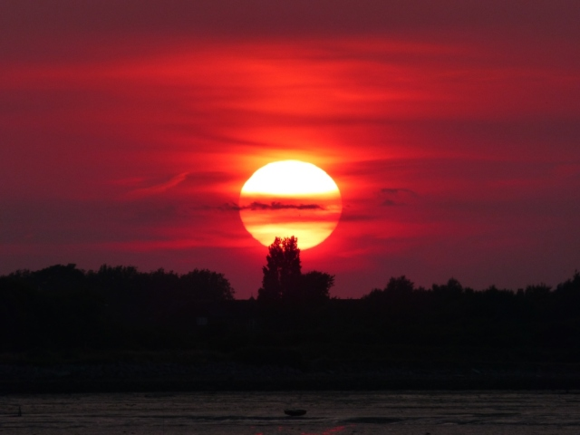 Sunset Hayling Island Ferry Point