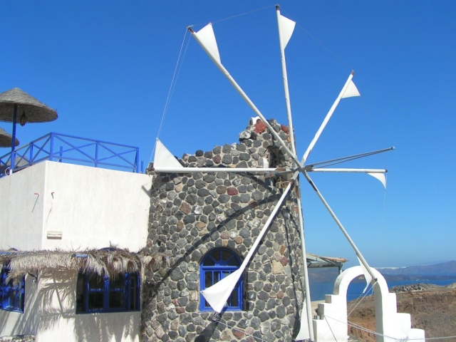 Interesting lines of windmill sails