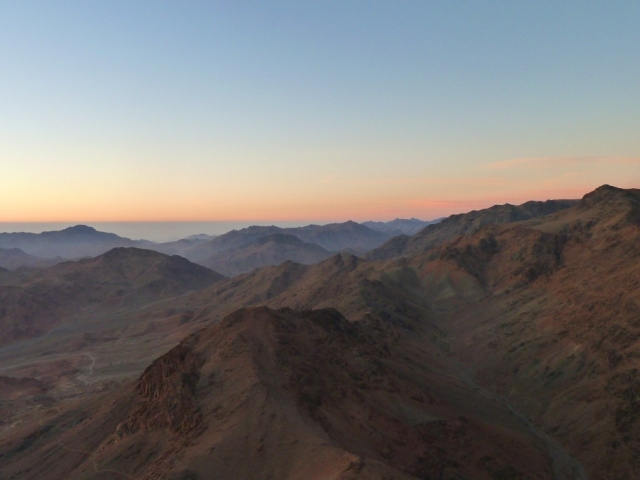 Sunrise at the top of Mount Sinai