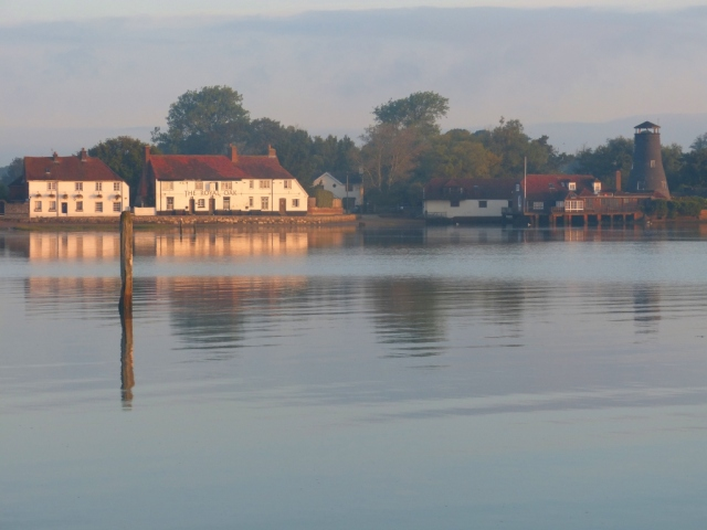 Sunrise on Langstone Village