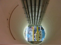 A view of the detector from 100m above through an access tunnel