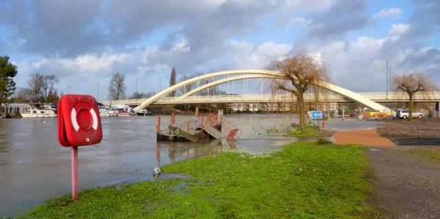 The Thames at Walton Bridge January the 6th 2014