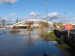 Walton Bridge & the submerged towpath