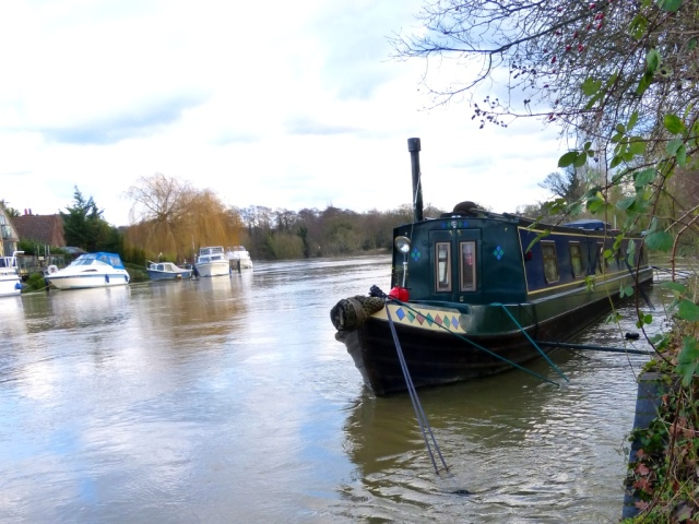 Hard to get onto this boat moored near the pump house on Desborough Island.