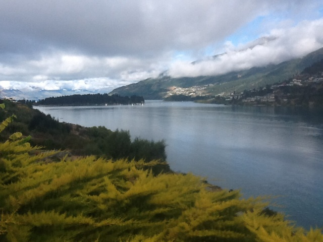 View from Damien & Louise's back garden, over Lake Wakatipu