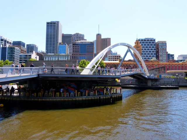 Foot Bridge over the Yarra River