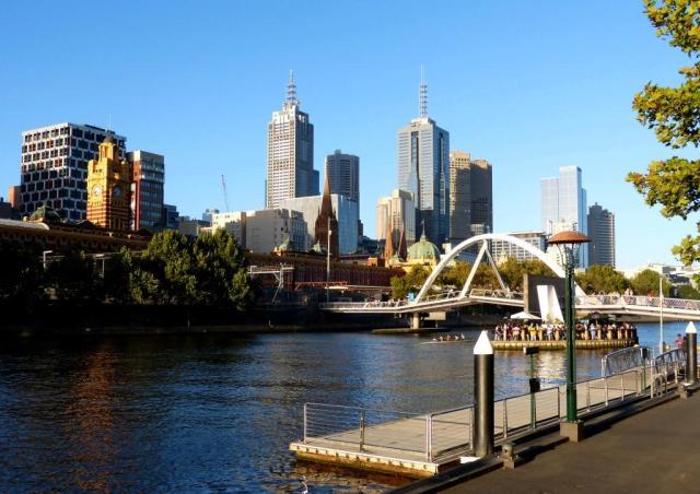 Foot Bridge to Flinders Street Station