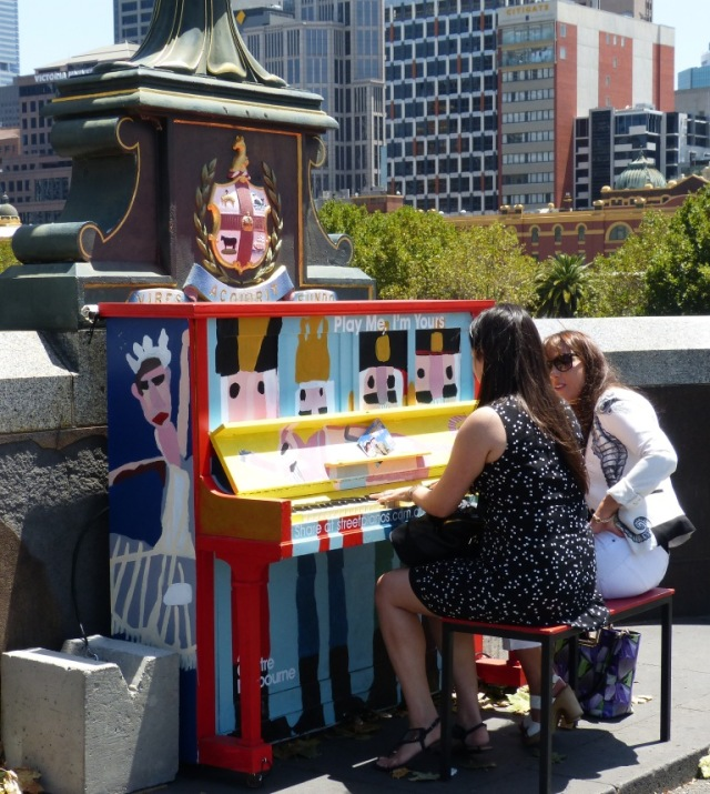 Pianos on the sidewalk!