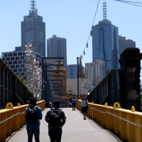 Foot Bridge over the River Yarra