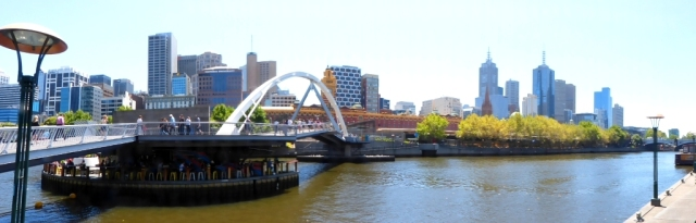 Foot Bridge and the Yarra River