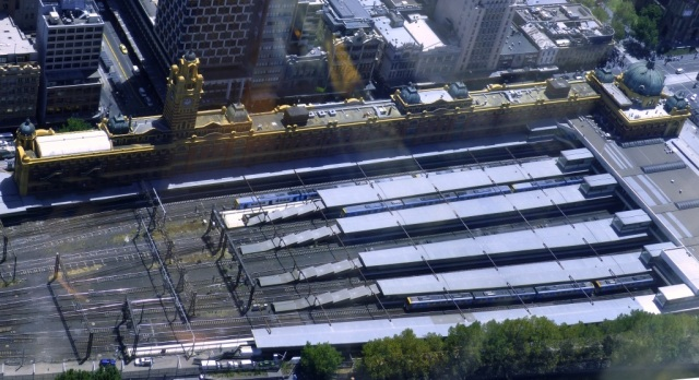 Flinders Street Station from the Eureka Tower