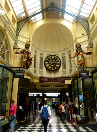 Gog and Magog in The Royal Arcade