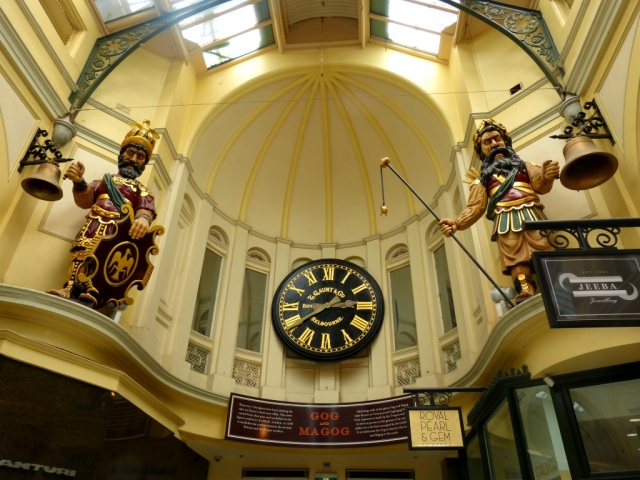 Gog and Magog in the Royal Arcade Melbourne