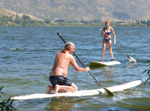 Just about balancing on top of a paddleboard