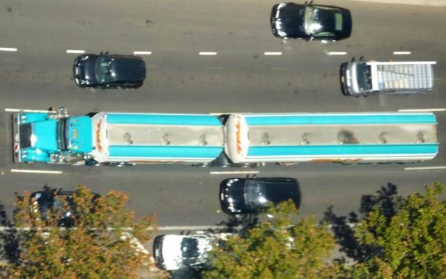 A Truck driving through Melbourne