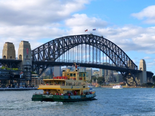 Sydney Harbour ferry & the bridge