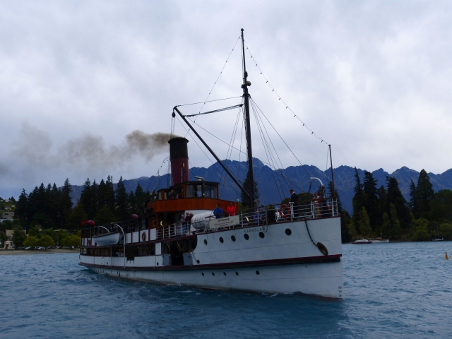 A steamer on lake Wakatipu, Queenstown