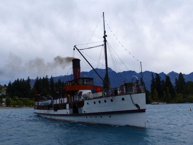 A steamer on lake Wakatipu, Queenstown