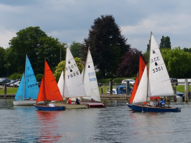 Dinghies Sailing on the Thames