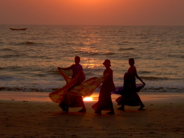 Shawl Seller's at Sunset
